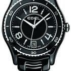 Ebel X-1 Black Dial Black Ceramic and Steel Ladies Watch