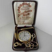 Ulysse Nardin Pocket Watch 18k gold with original box and chain