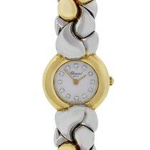 Chopard Casmir Diamond Dial 18k Gold & Steel Watch