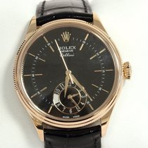 Rolex Cellini 18K Everose Gold Dual Time Automatic