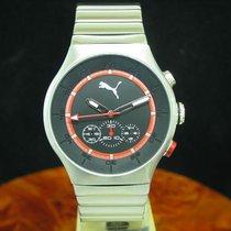 Puma Time Speaker Chronograph Edelstahl Herrenuhr / Ref...