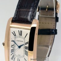 Cartier RARE LEFT HANDED American Tank 18k Rose Gold Watch...