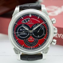 Omega 4851.61.31 De Ville Co-Axial Chronograph Red Dial SS...