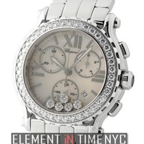 Chopard Happy Sport Chronograph 5 Floating Diamonds Diamond...