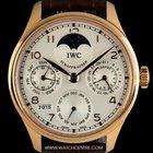 IWC 18k R/G Unworn Portuguese Perp Cal Moonphase B&P IW502306