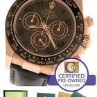 Rolex Daytona Brown Chocolate 116515 18K Rose Gold Chronograph