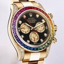 Rolex [LIKE-NEW][RARE] Cosmograph Daytona Rainbow Yellow Gold