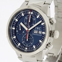 IWC GST Chronograph Rattrapante Watch Blue Dial Ref. 3715...