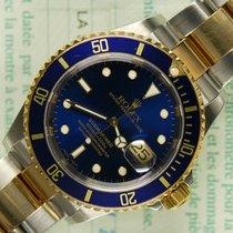 Rolex Submariner 16613 blue steel gold B/P 2001