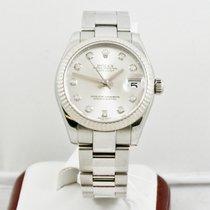 Rolex 31mm Datejust Midsize 178274 Rolex Silver Diamond Dial