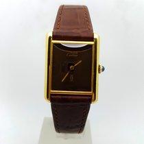 Cartier Tank must de Cartier 18K Gold Plated 23mm