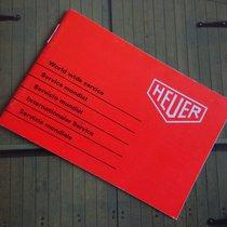 Heuer Service  Booklet 70iger Jahre Gestempelt