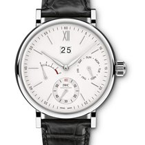 IWC IW516201 Portofino Hand Wound Day - Date in Steel - on...