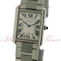Cartier Tank Solo Large, Solver Dial - Stainless Steel Bracelet