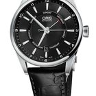 Oris Artix Pointer Day, Date, Black Dial, Leather Bracelet