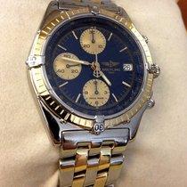 Breitling Chronomat Pilotband Gold Steel Bleu Dial 39 mm (1997)
