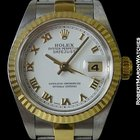 Rolex 79173 Datejust 18k Yg & Stainless Fluted Bezel...