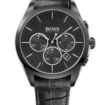 Hugo Boss 1513367 Onyx Chronograph Lederband schwarz 44mm 5ATM