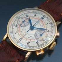 Omega Chronograph mit Kaliber 33.3, 1940, Gelbgold 18 Kt.