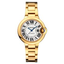 Cartier Ballon Bleu 33mm 18K Yellow Gold Watch UNWORN