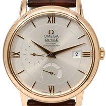 Omega De Ville 424.53.40.20.02.001 Prestige Co-Axial Red Gold...