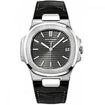 Patek Philippe NAUTILUS WHITE GOLD LEATHER B&P