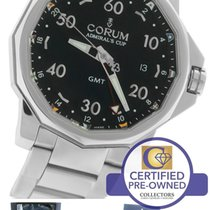 Corum Admirals Cup GMT Date Automatic Black Stainless Watch