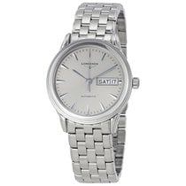 Longines Flagship Automatic Day Date Silver Dial Stainless...