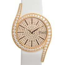Piaget Limelight 18 K Rose Gold With Diamonds Pink Quartz...