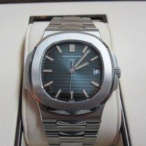 Patek Philippe Nautilus Stainless Steel Watch/Black-Blue Dial
