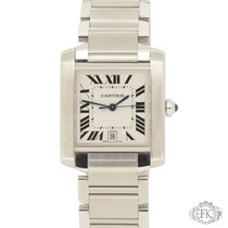 Cartier Tank Francaise Large Model Stainless Steel W51002Q3