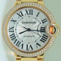 Cartier Ballon Bleu Rose gold 36,5 mm,Factory setted diamonds