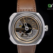 Sevenfriday V2/01 Stainless Steel With Vertical Brushed Top...