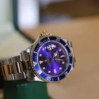 Rolex submariner acciaio oro purple dial
