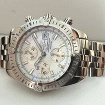 Breitling Chronomat Evolution Pilotband Steel Pearl Dial 44 mm...