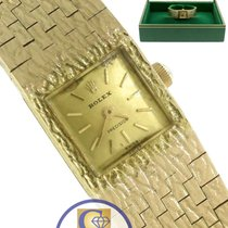 Rolex 1960s Precision Solid 18K 750 Yellow Gold Swiss Mechanical