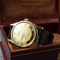 Omega Constellation 18K De Luxe / Solid Gold Dial / 1960 / Croco