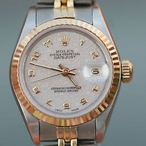 Rolex Datejust Ladies 18k Yellow Gold Stainless Steel 69163 T...