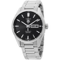 TAG Heuer Carrera Black Dial Stainless Steel Men's Watch...