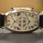 Cartier Tonneau Collection Privée Dual Time Oro Bianco