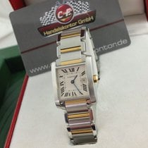 "Cartier Tank Francaise / Stahl  /"" 2 -Tone Uhr ""( Band..."