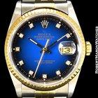 Rolex Datejust 16233 Vignette Dial 18k/steel Box & Papers