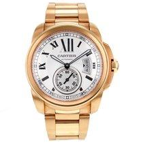 Cartier Calibre W7100018 42mm 18k Rose Gold Men's Watch...