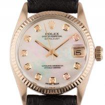 Rolex Datejust Medium 18kt Gelbgold Perlmutt Diamond Automatik...
