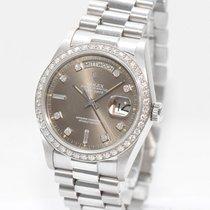 Rolex Day Date Diamant Platin Ref.18046  Papiere von 1985