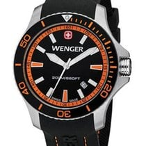 Wenger Mens Sea Force Dive Watch - Stainless - Orange &...