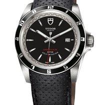 Tudor 20500N/CUERO Grantour Date in Steel - on Black Micro...