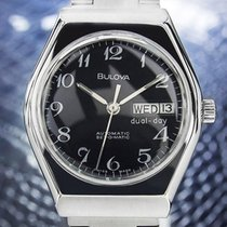 Bulova Automatic Mens 1970s Set-O-Matic Stainless Steel Day...
