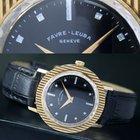 Favre-Leuba Geneve Winding 18k Gold Mens Watch Black Dial Cal....