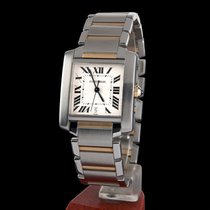 Cartier tank steel and gold men size